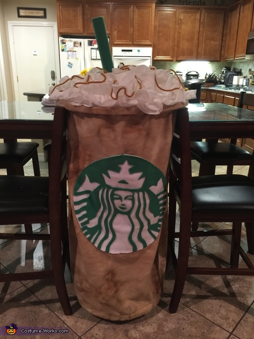 Starbucks Venti Iced Caramel Latte Homemade Costume
