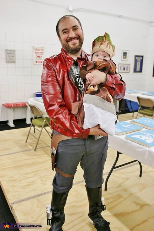 Starlord and Baby Groot Costume