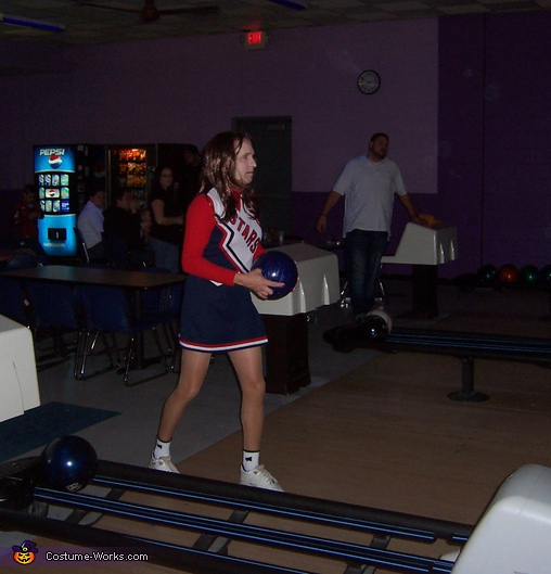 Bowling in costume, STARS Cheerleader Costume