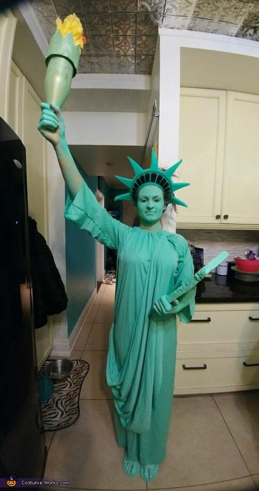 Statue of Liberty Homemade Costume