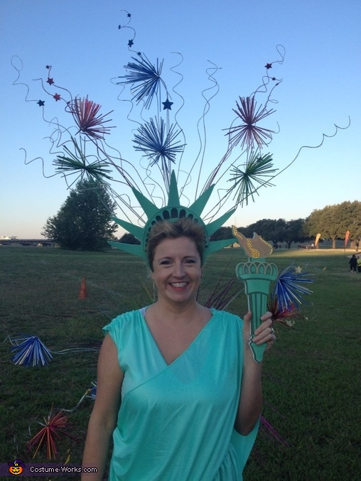 Statue of Liberty with Fireworks Costume