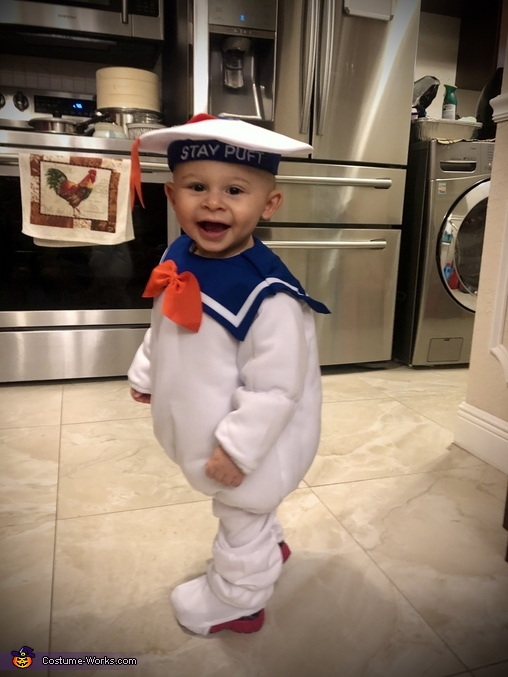 Mikie's Costume #3, Stay-Puft Marshmallow Man Costume