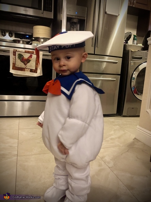 Mikie's Costume #5, Stay-Puft Marshmallow Man Costume