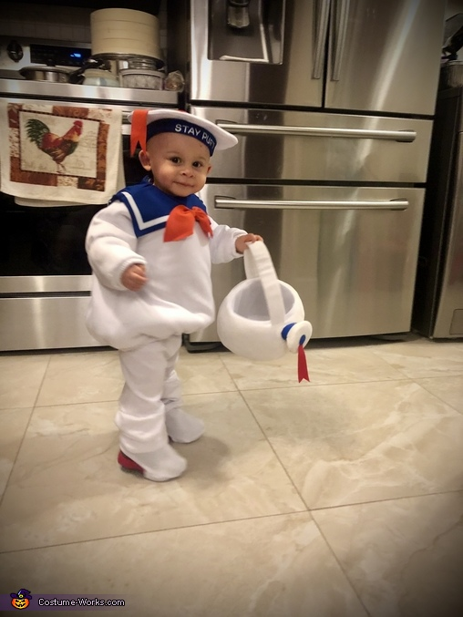 Mikie's Costume #8, Stay-Puft Marshmallow Man Costume