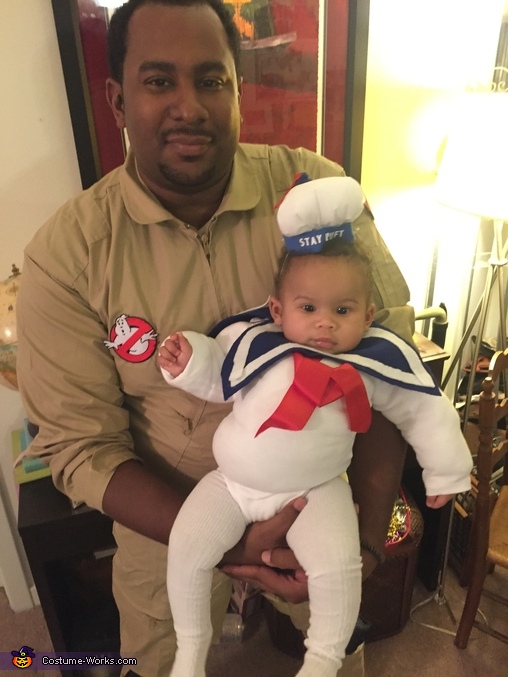 Stay Puft Marshmallow and Ghostbusters Homemade Costume