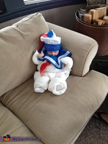 Stay Puft , Stay Puft Marshmallow Baby Costume