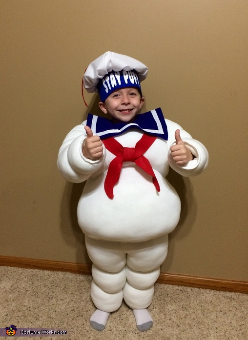 Stay Puft Marshmallow Man Costume Baby Toddler Kids Ghostbusters Halloween