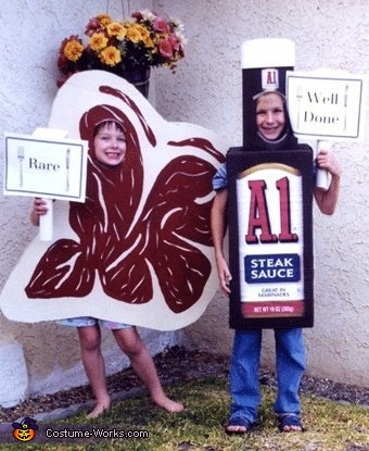 Steak and Steak Sauce Costume