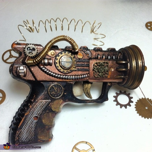 my steampunk gun, Steam-powered Girl and her Creator Costume