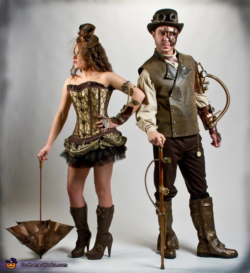 We spent 2 months working on our Steampunk outfits, Steampunk Costume