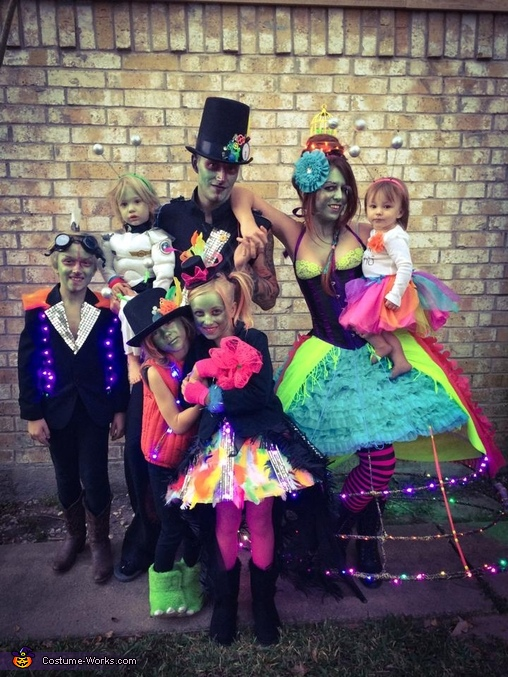Steampunk Alien Invasion Family Costume