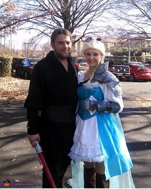 Homemade Steampunk Elsa Costume