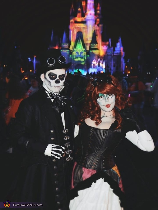 Steampunk Jack and Sally Costume