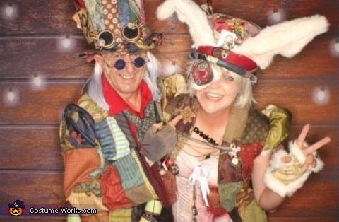Steampunk Mad Hatter & White Rabbit Costume
