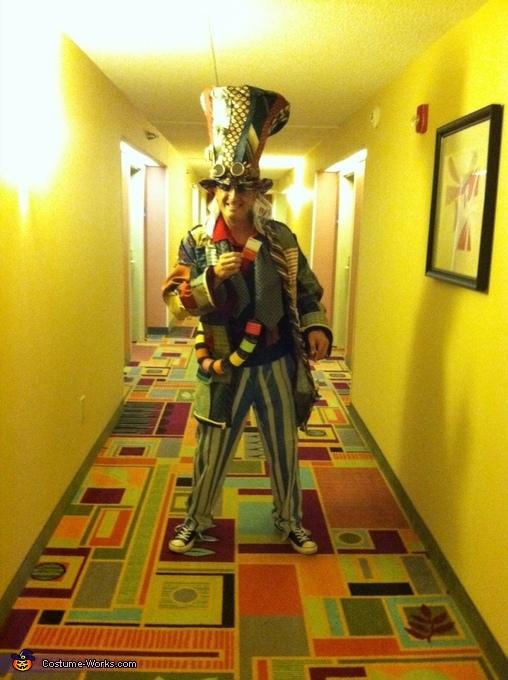 Hatter Full body, Steampunk Mad Hatter & White Rabbit Costume