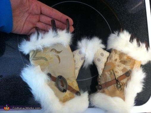 W.Rabbit Gloves, Steampunk Mad Hatter & White Rabbit Costume