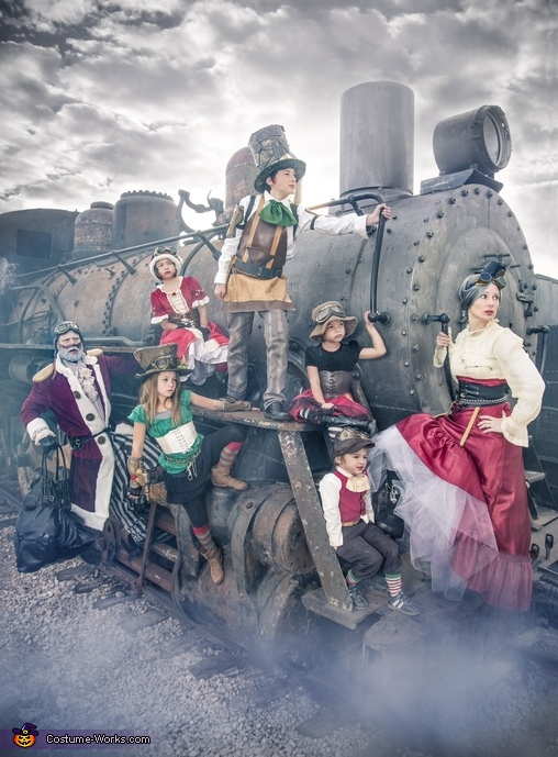 Steampunk Santa, Mrs. Claus, and Elves Costume