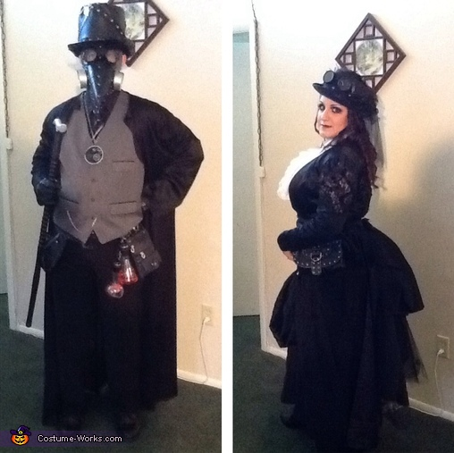 Steampunk Witch Doctor and his Wife Couples Costume