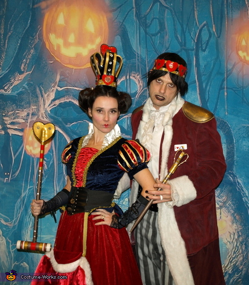The King and Queen of Hearts, Steampunk Wonderland Family Costume