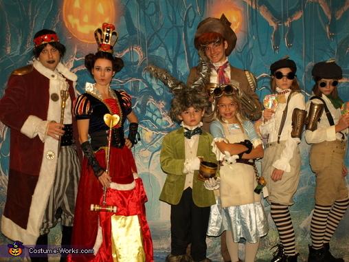 Steampunk Wonderland Family Costume