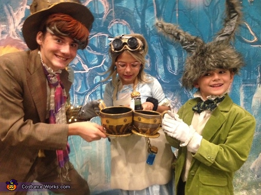A Mad Tea Party, Steampunk Wonderland Family Costume