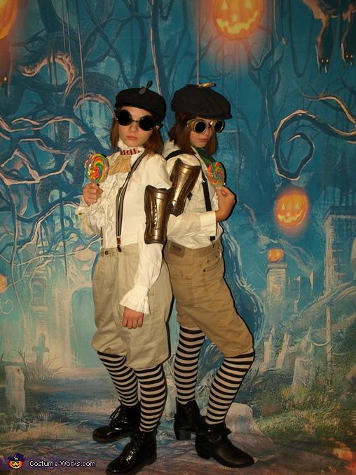 Steampunk Tweedle Dum and Tweedle Dumber, Steampunk Wonderland Family Costume
