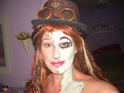 close up make up 2, Steampunk Zombie Woman Costume