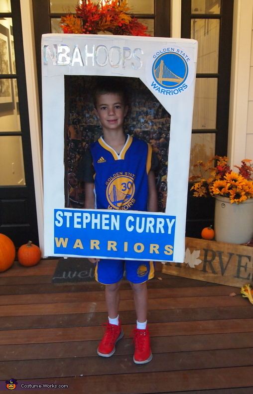 Stephen Curry Basketball Card Costume