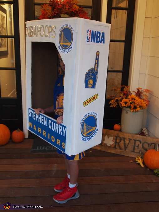 Side of card, Stephen Curry Basketball Card Costume