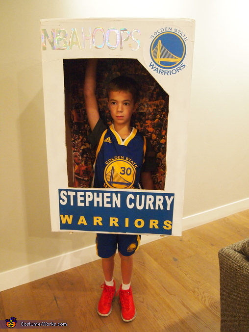 Shooting shot, Stephen Curry Basketball Card Costume
