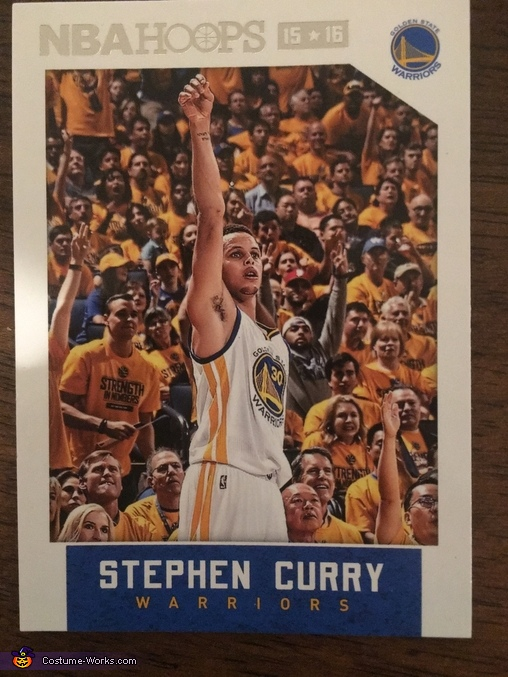 Stephen Curry Card, Stephen Curry Basketball Card Costume