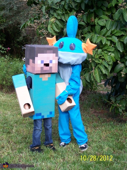 Steve meets Mudkip (big brother ) = ), Steve from Minecraft Costume