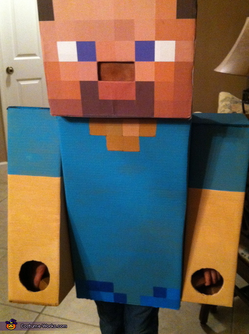 close-up, Steve from Minecraft Costume