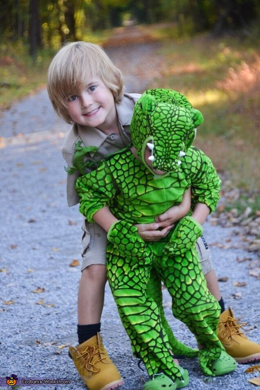 Steve Irwin & his Croc Costume