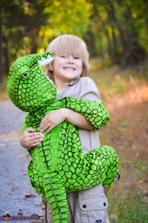 Steve Irwin & his Croc Homemade Costume