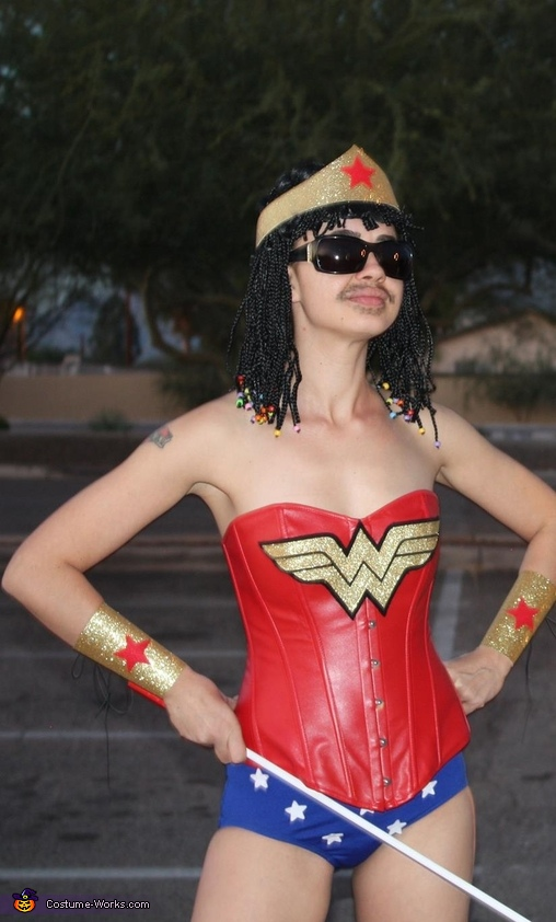 Stevie Wonder Woman Homemade Costume
