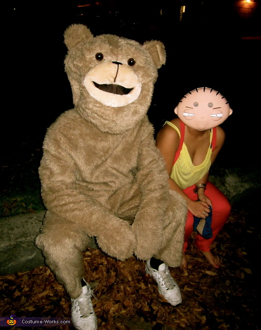 Stewie Griffin with his teddy bear Rupert, Stewie Griffin from Family Guy Costume