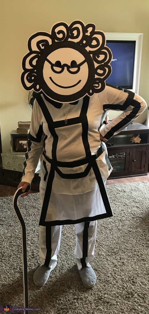 Grandma (my 86 yr old grandma), Stick Figure Family Costume