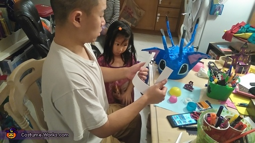 Dad making teeth, Stitch Costume