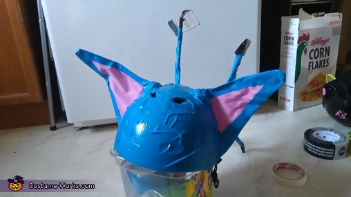 Work in progress of stitch helmet, Stitch Costume