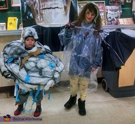 Storm Cloud and Lightning Victim Costume