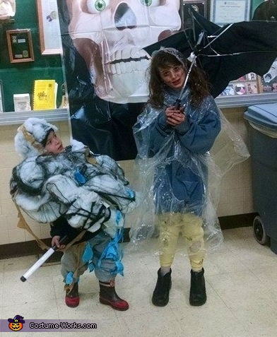 Storm Cloud and Lightning Victim Homemade Costume