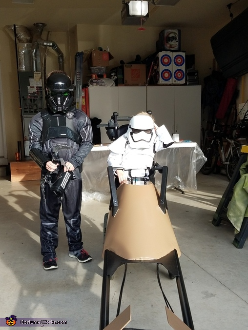 Stormtrooper with Speeder Homemade Costume