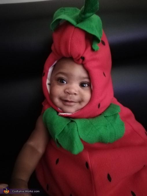 Strawberry Bitty Baby Homemade Costume