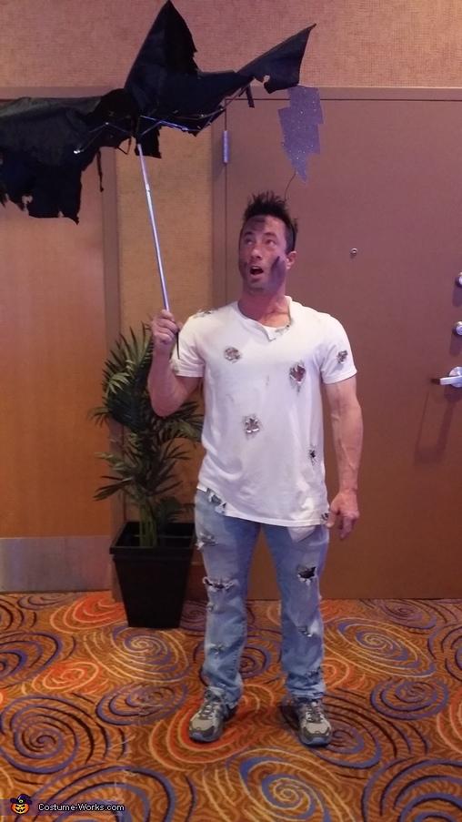 Struck by Lightning Homemade Costume