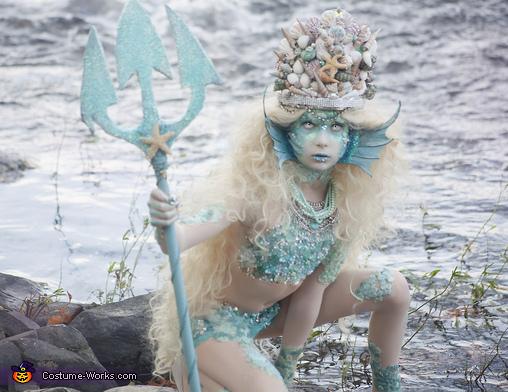 Siren half body, Stunning Siren Costume