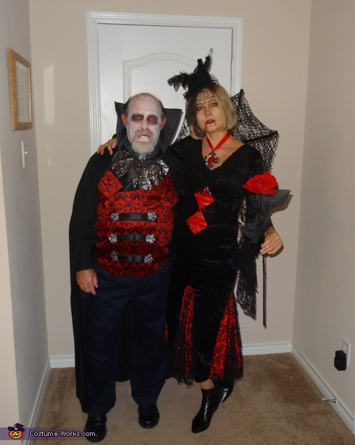 Stylish Mr. & Mrs. Dracula Costume