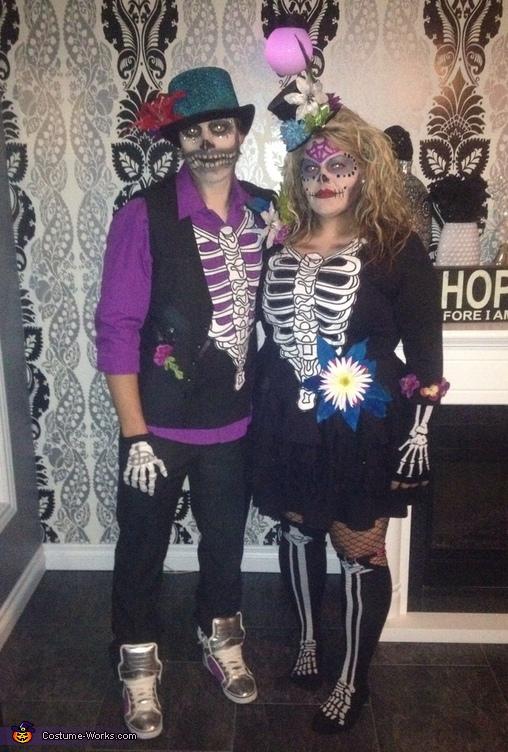 Sugar Skull Couple Costume