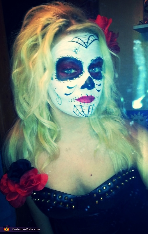 Sugar Skull and Skeleton Homemade Costume