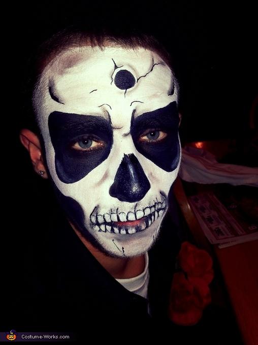 Sugar Skull and Skeleton Homemade Costume